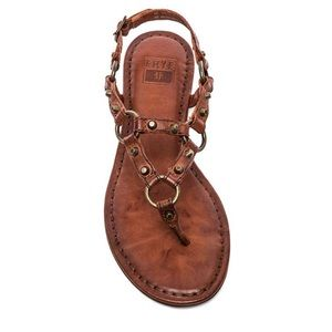 Frye Carson Ring Leather Thong Sandals